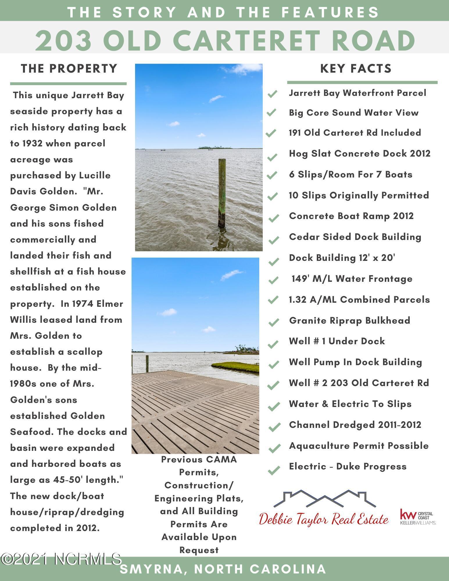 203 Old Carteret Road, Smyrna, North Carolina 28579, ,Residential land,For sale,Old Carteret,100221960