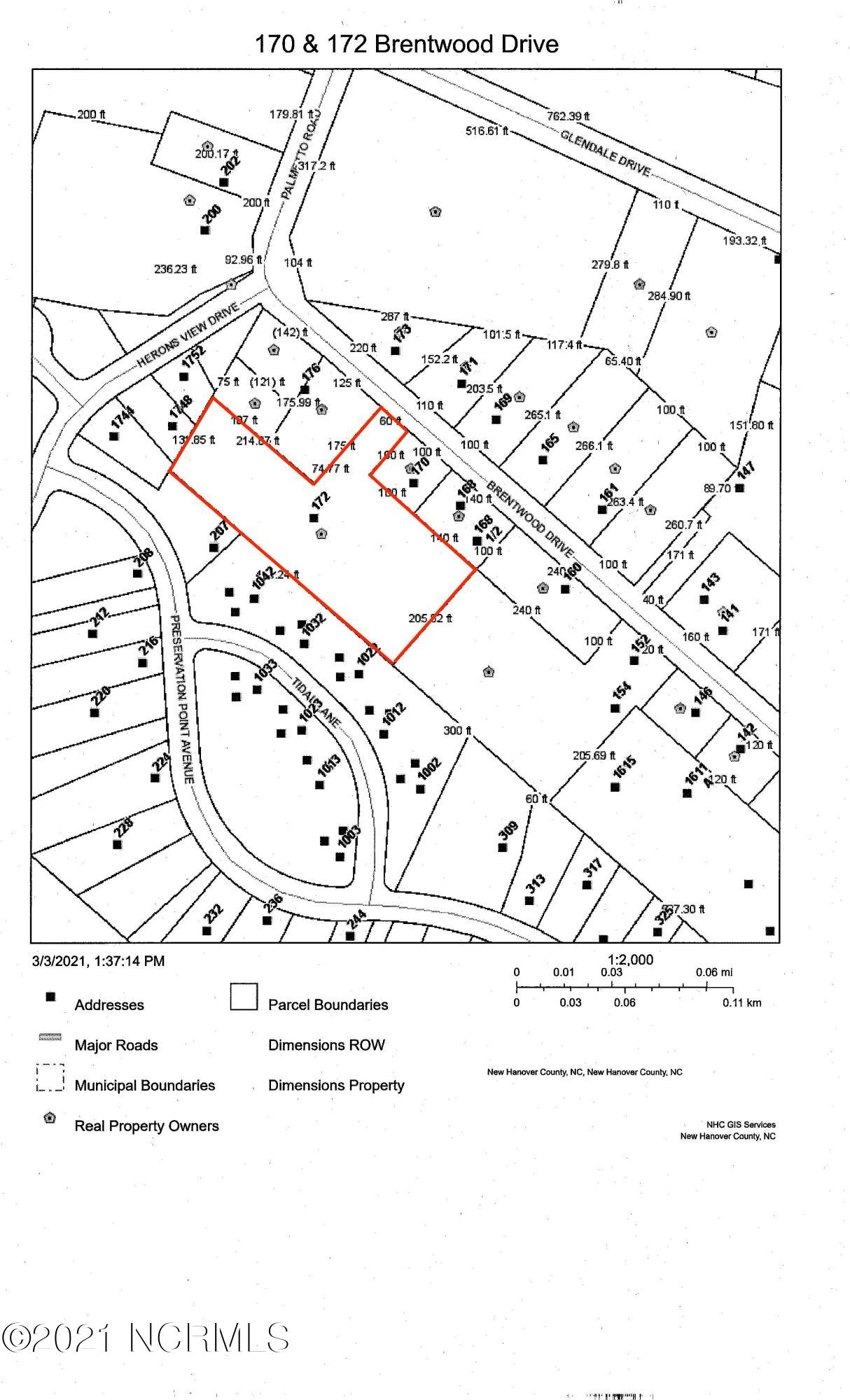 172 Brentwood Drive, Wilmington, North Carolina 28401, ,Residential land,For sale,Brentwood,100260098