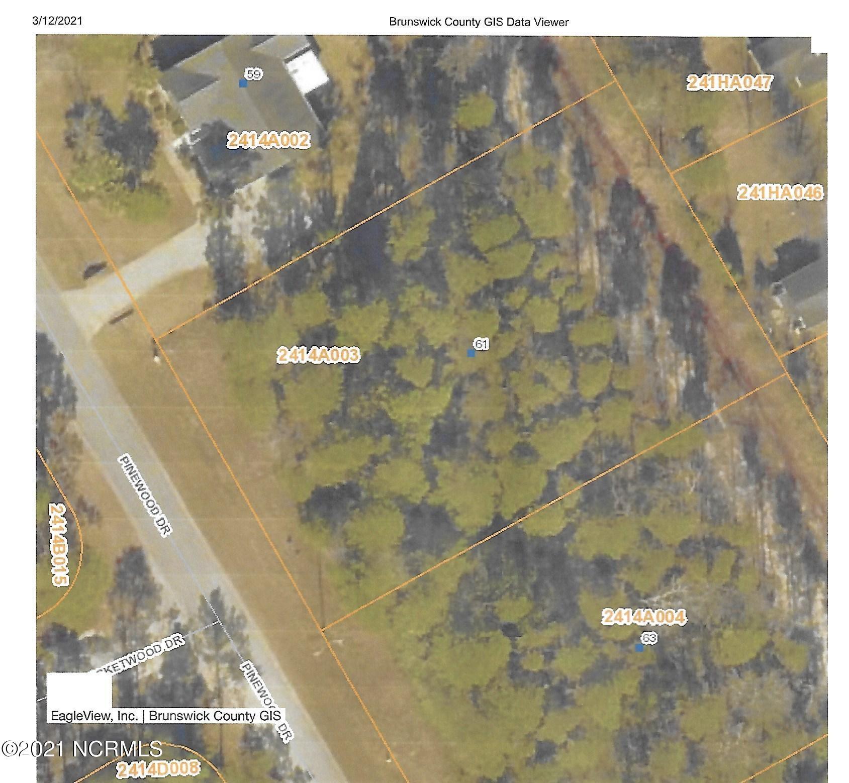 61 Pinewood Drive, Carolina Shores, North Carolina 28467, ,Residential land,For sale,Pinewood,100260908
