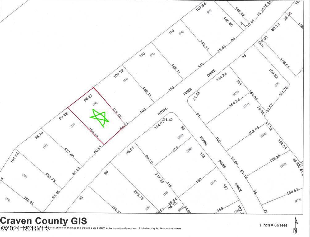 2035 Royal Pines Drive, New Bern, North Carolina 28560, ,Residential land,For sale,Royal Pines,90091066