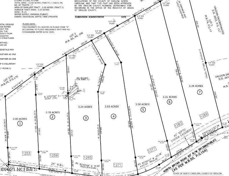 1257 Bryan Road, Jacksonville, North Carolina 28546, ,Undeveloped,For sale,Bryan,100276181