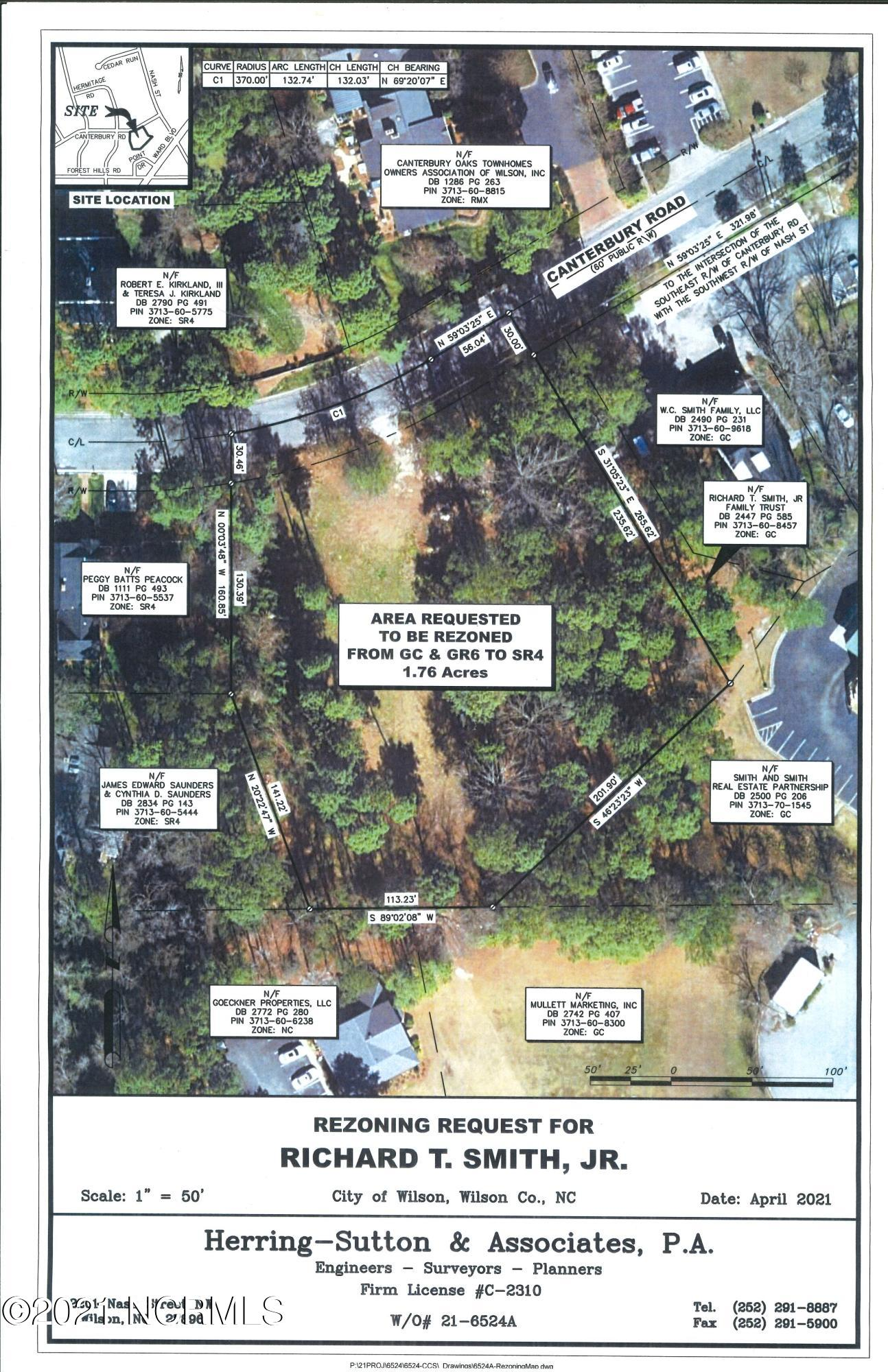 0 Canterbury Road, Wilson, North Carolina 27896, ,Residential land,For sale,Canterbury,100276509