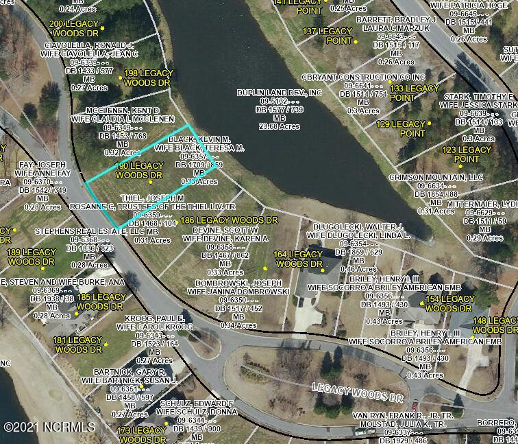 190 Legacy Woods Drive, Wallace, North Carolina 28466, ,Residential land,For sale,Legacy Woods,100282688