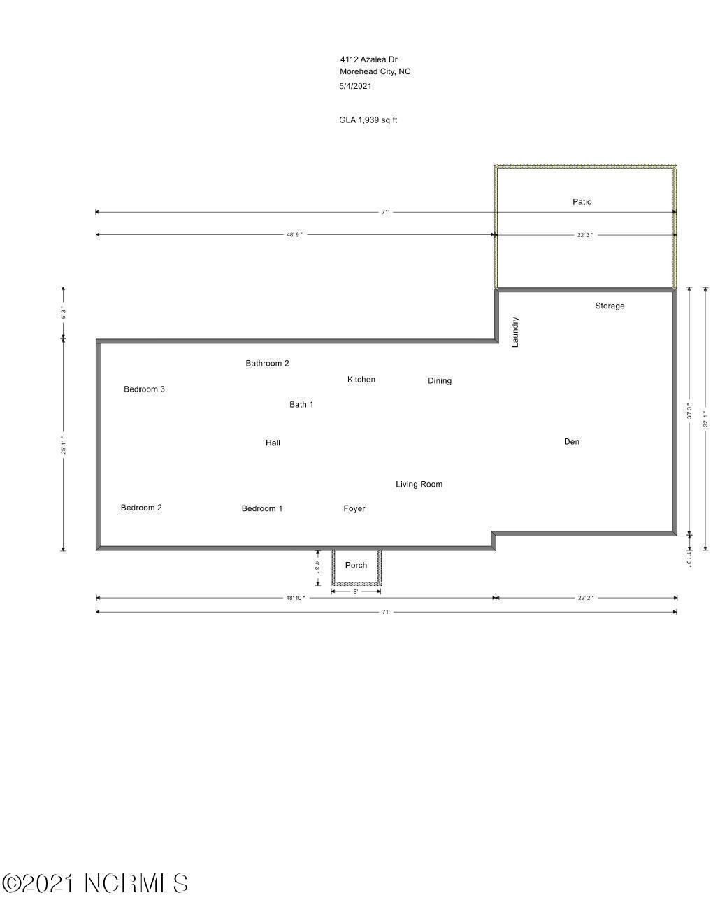 109 Plantation Circle, Beaufort, North Carolina 28516, 3 Bedrooms Bedrooms, 6 Rooms Rooms,2 BathroomsBathrooms,Single family residence,For sale,Plantation,100276623