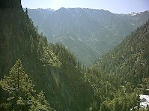 View up Tumwater Canyon toward West