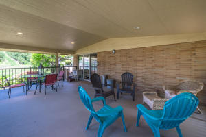Covered deck off the kitchen