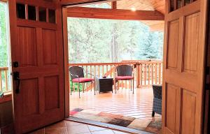 3 Front Double Doors to Porch