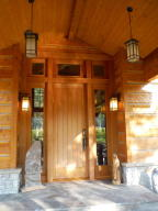 Impressive main entrance