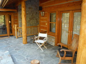 Slate porch on 2nd master suite