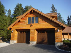 Large detached 2 car garage