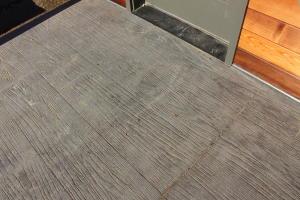 Stamped concrete decking