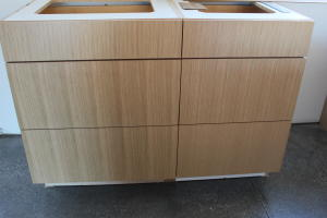 Close up of cabinets