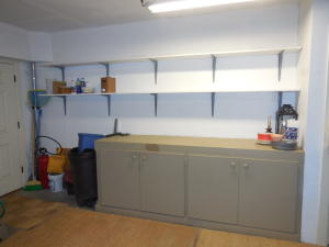 Built-In Workshop Area in Garage