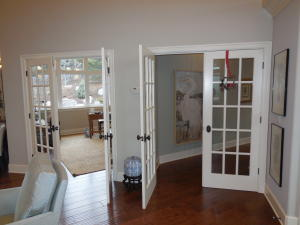 French Doors to Office and to Master BR