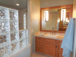 Master Bath - Glass Block Bath & Shower