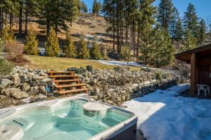 Hot Tub & Backyard