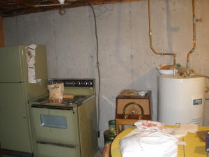 Basement canning room