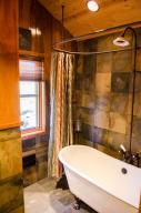 Upstairs bath tub