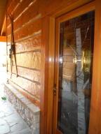 Custom etched glass door