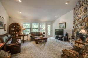 Living Room, Entrance & Fireplace