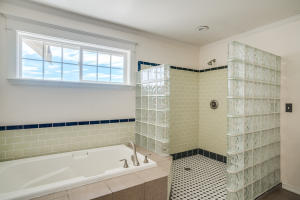 Master bath with soak tub