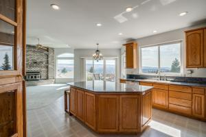 Kitchen island with natural light