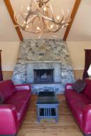 Awesome rive rock fireplace