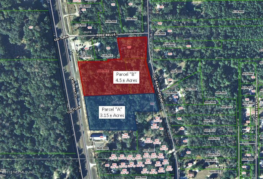 PARCEL B HIGHWAY 17, SAN MATEO, FLORIDA 32187, ,Commercial,For sale,HIGHWAY 17,755301