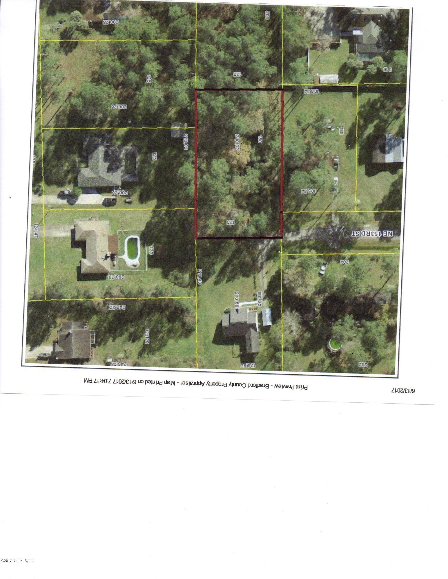 0 153RD, STARKE, FLORIDA 32091, ,Vacant land,For sale,153RD,886735
