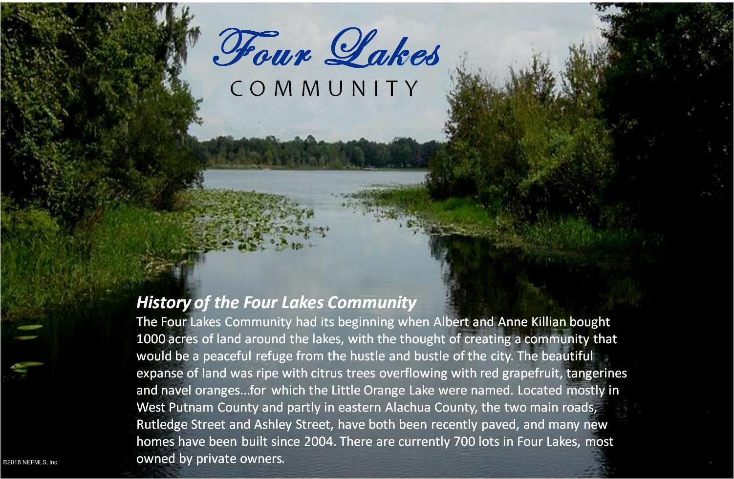 235 LITTLE ORANGE LAKE, HAWTHORNE, FLORIDA 32640, ,Vacant land,For sale,LITTLE ORANGE LAKE,935995