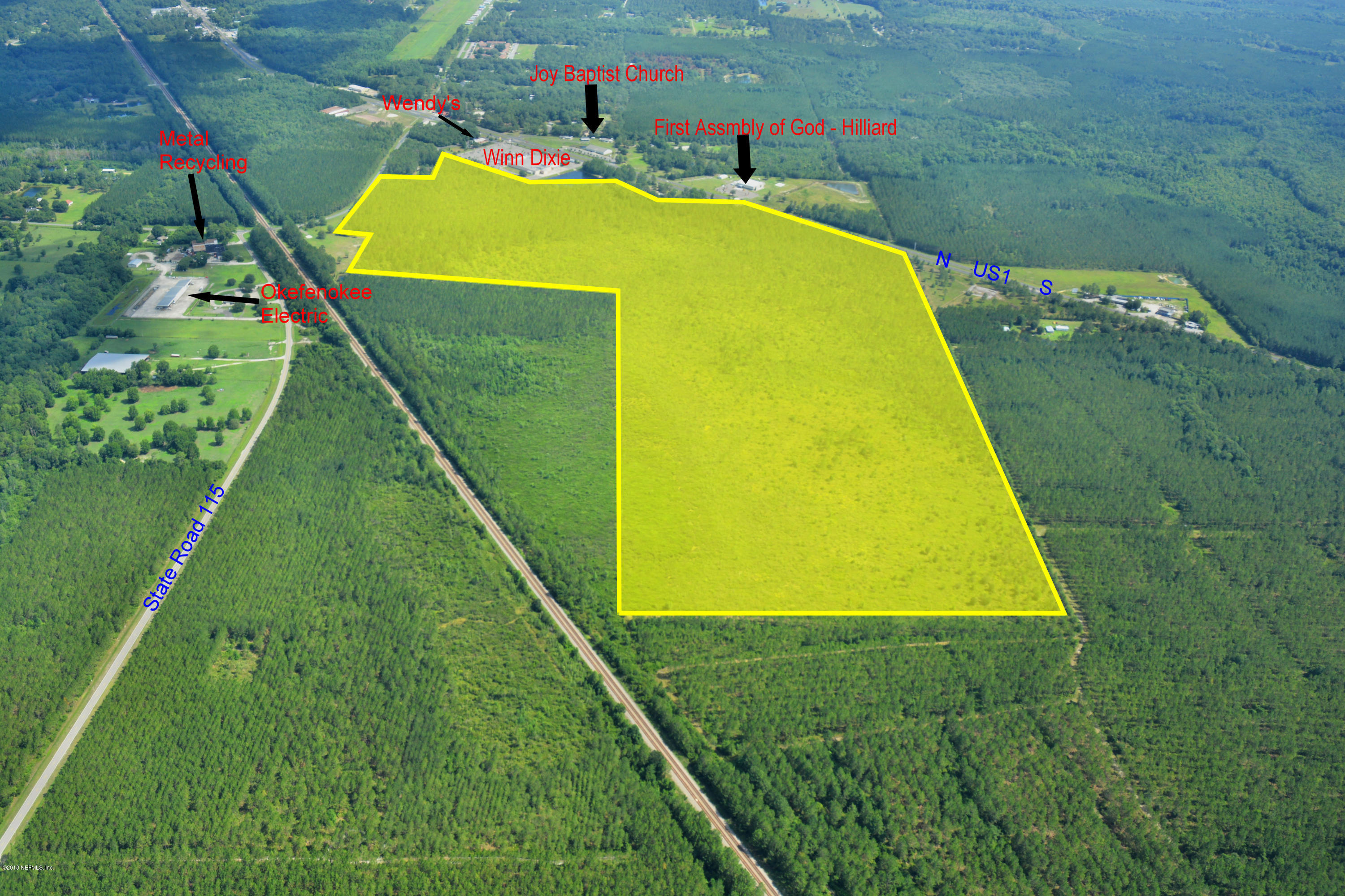 550901 US HIGHWAY 1, HILLIARD, FLORIDA 32046, ,Vacant land,For sale,US HIGHWAY 1,941681