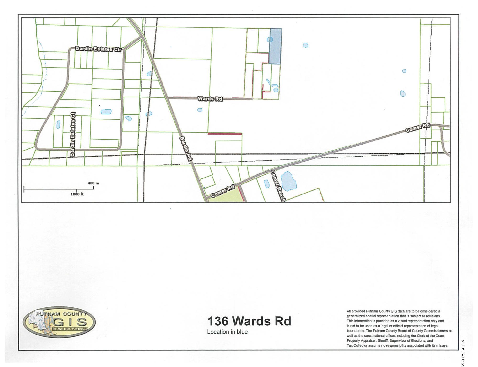 136 WARDS, PALATKA, FLORIDA 32177, ,Vacant land,For sale,WARDS,946641