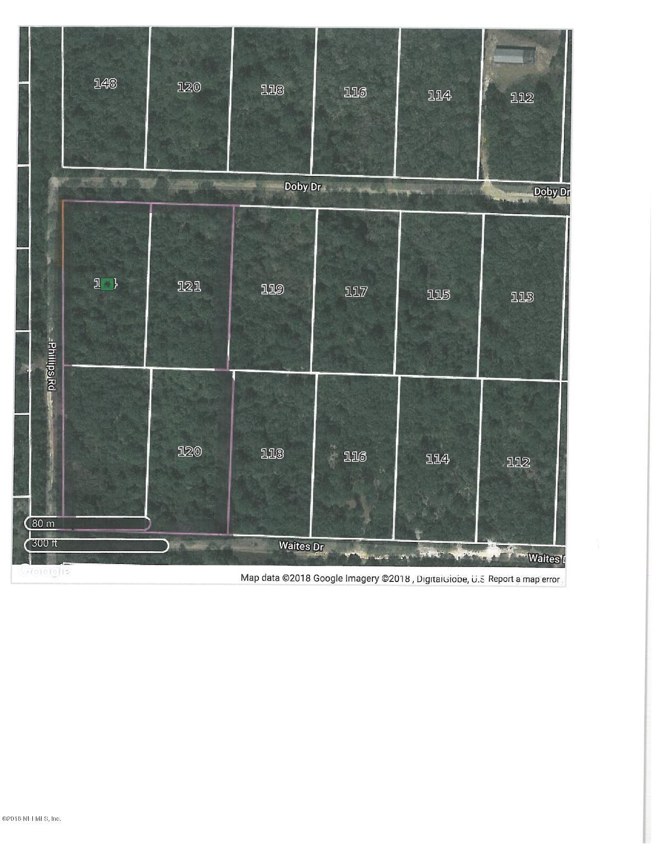 144 PHILLIPS, FLORAHOME, FLORIDA 32140, ,Vacant land,For sale,PHILLIPS,951588