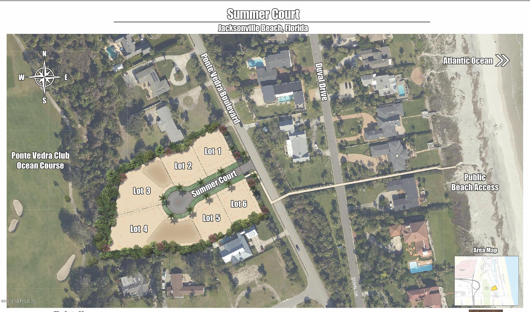 4  SUMMER (LOT 5) CT, one of homes for sale in Jacksonville Beach