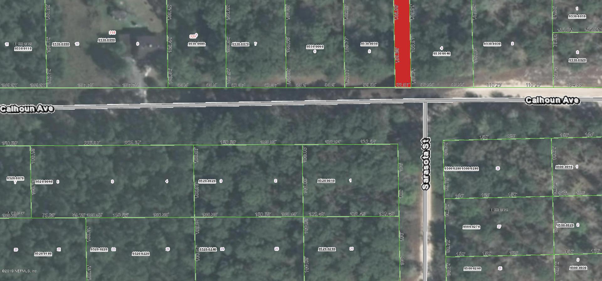 323 CALHOUN, FLORAHOME, FLORIDA 32140, ,Vacant land,For sale,CALHOUN,979189