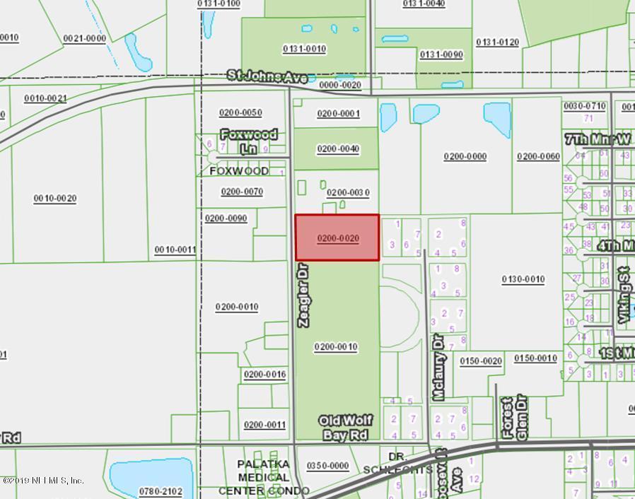 0 ZEAGLER, PALATKA, FLORIDA 32177, ,Vacant land,For sale,ZEAGLER,989977
