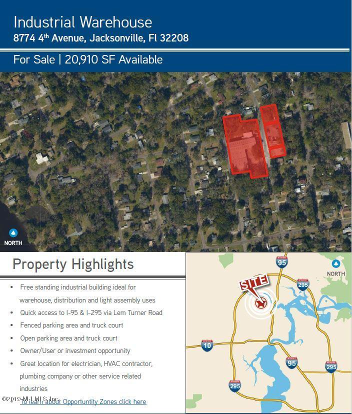 8774 4TH- JACKSONVILLE- FLORIDA 32208, ,Commercial,For sale,4TH,1017018