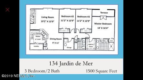 43 JARDIN DE MER- JACKSONVILLE BEACH- FLORIDA 32250, 3 Bedrooms Bedrooms, ,2 BathroomsBathrooms,Condo,For sale,JARDIN DE MER,1019947