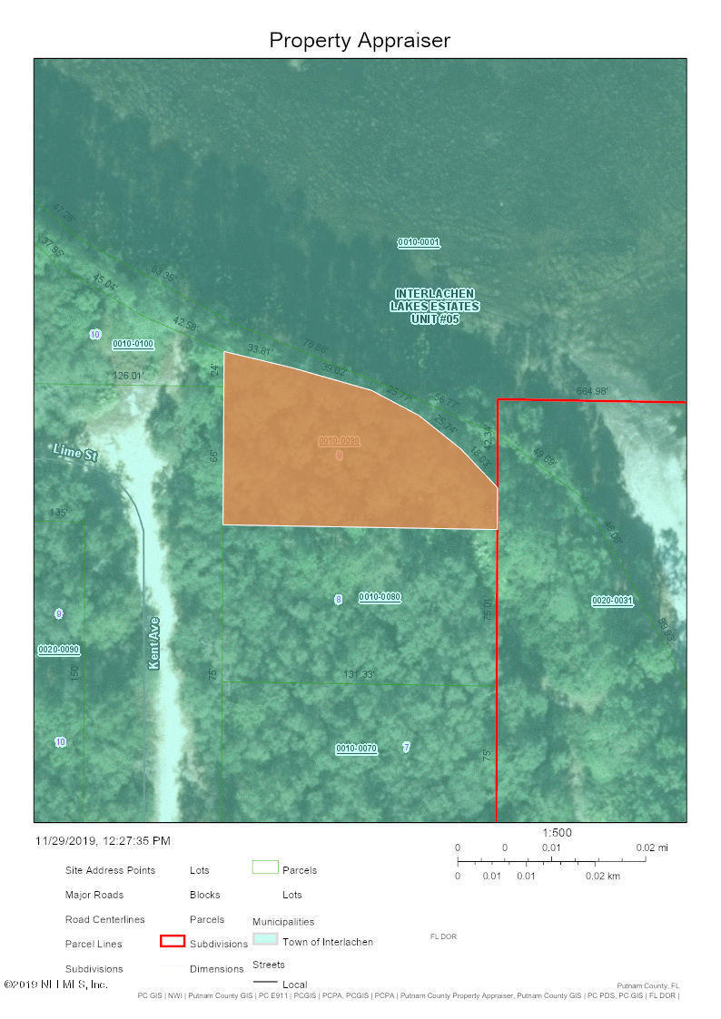 0 KENT, INTERLACHEN, FLORIDA 32148, ,Vacant land,For sale,KENT,1027431