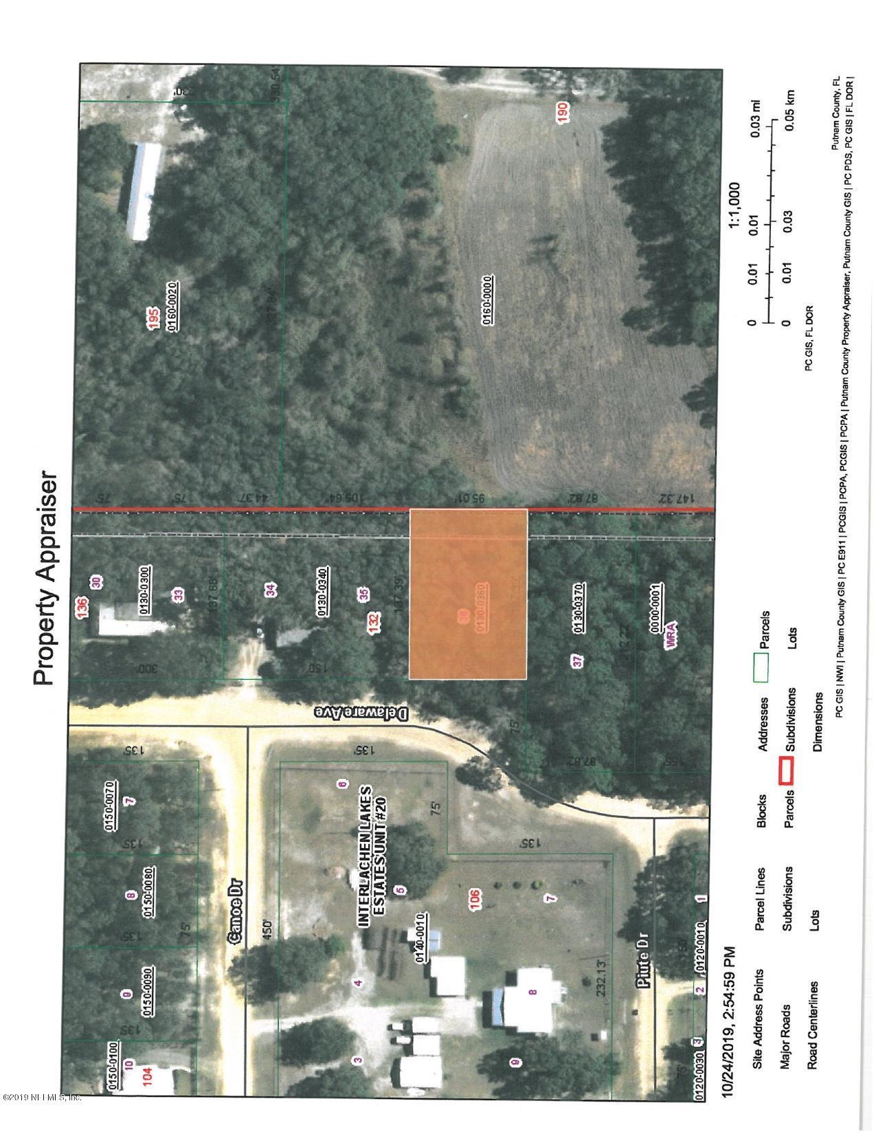0 DELAWARE, INTERLACHEN, FLORIDA 32148, ,Vacant land,For sale,DELAWARE,1027751