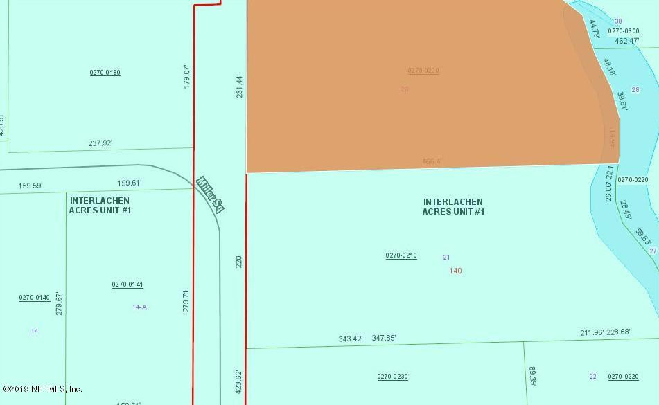 136 MILLER, INTERLACHEN, FLORIDA 32148, ,Vacant land,For sale,MILLER,1028940