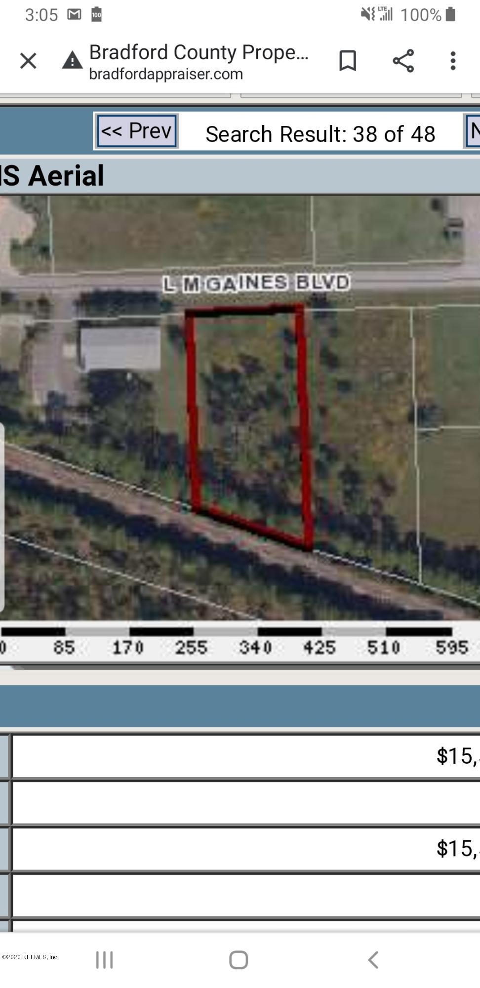 23 L M GAINES, STARKE, FLORIDA 32091, ,Vacant land,For sale,L M GAINES,1031733