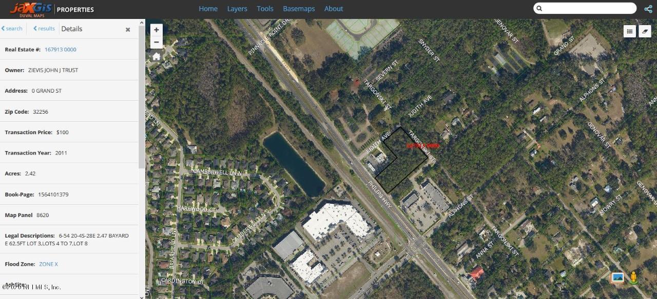 0 GRAND, JACKSONVILLE, FLORIDA 32256, ,Commercial,For sale,GRAND,1033401