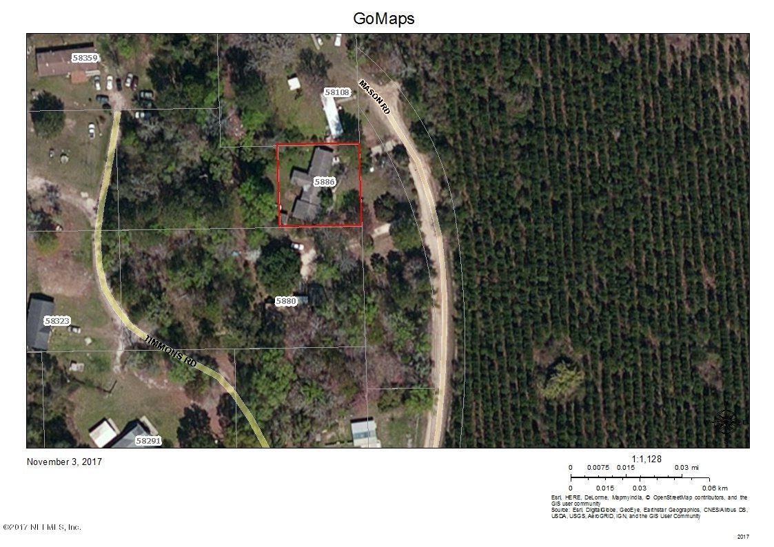 5886 MASON, HILLIARD, FLORIDA 32046, ,Vacant land,For sale,MASON,1033791