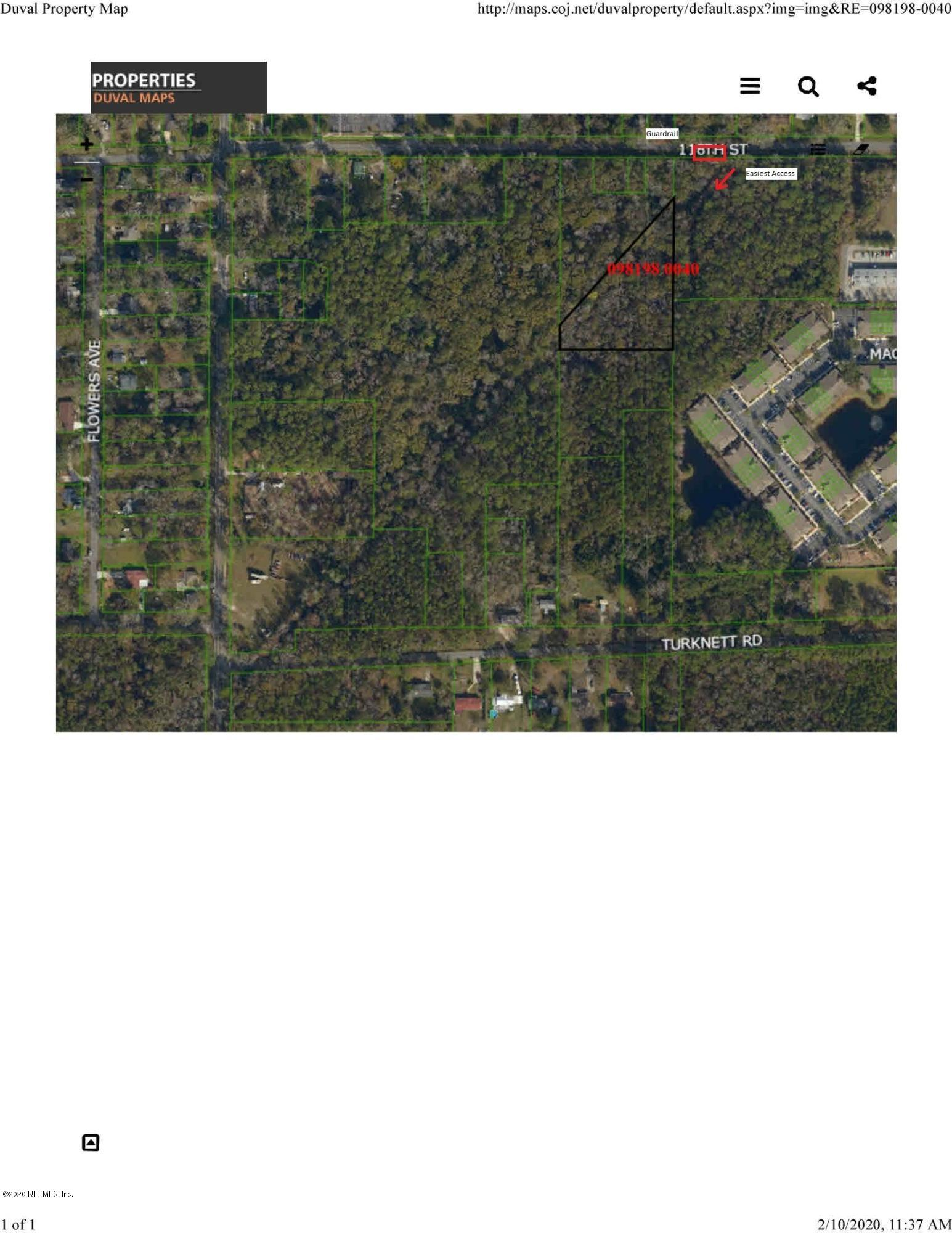 0 TURKNETT, JACKSONVILLE, FLORIDA 32244, ,Vacant land,For sale,TURKNETT,1036289