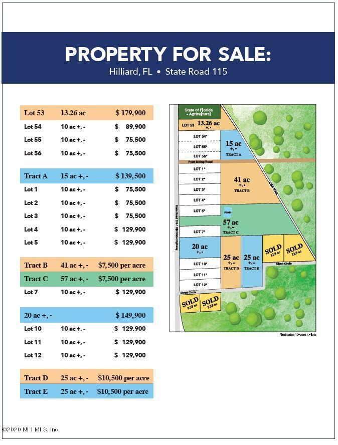 TRACT E CLYATT, HILLIARD, FLORIDA 32046, ,Vacant land,For sale,CLYATT,1037985