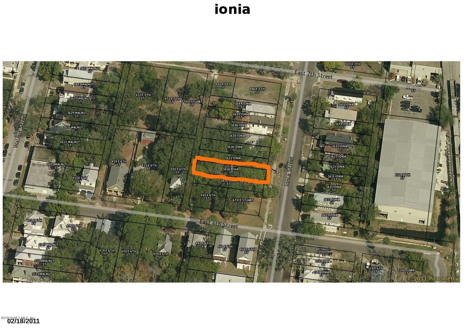 1616 IONIA, JACKSONVILLE, FLORIDA 32206, ,Vacant land,For sale,IONIA,1038266