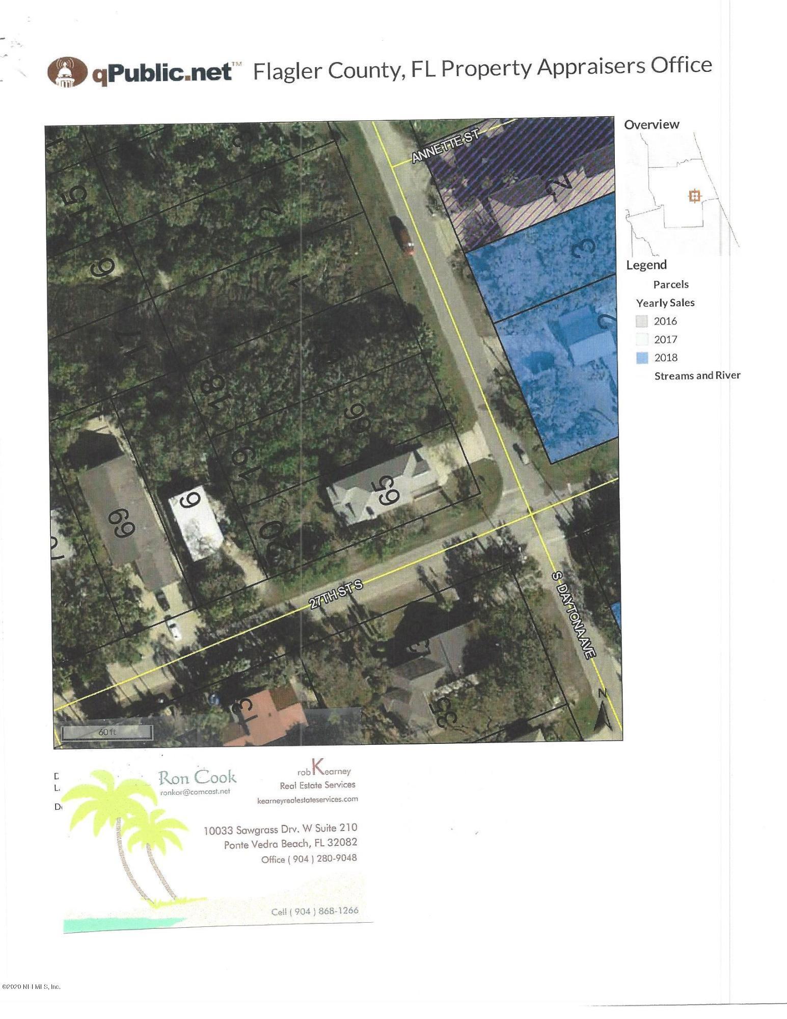 LOT 18 S. DAYTONA, FLAGLER BEACH, FLORIDA 32136, ,Vacant land,For sale,S. DAYTONA,1038855
