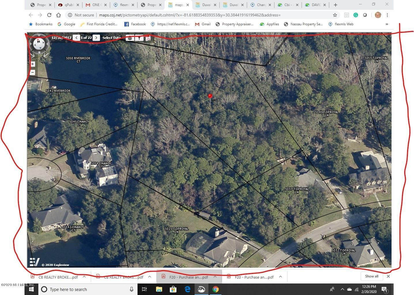 0 TOPROYAL, JACKSONVILLE, FLORIDA 32277, ,Vacant land,For sale,TOPROYAL,1039289