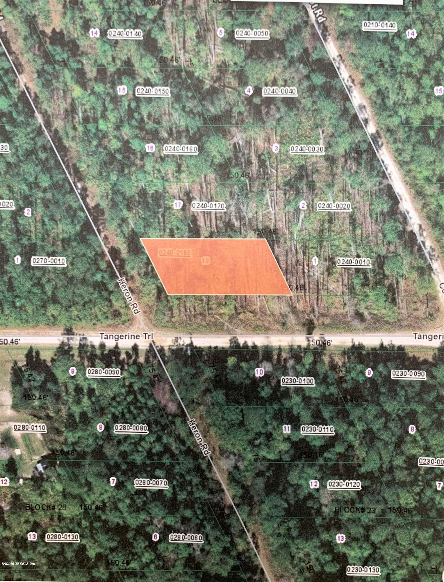 00 HERON, SATSUMA, FLORIDA 32189, ,Vacant land,For sale,HERON,1042226
